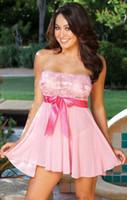 businesscn - Black Pink Plus Size S M L XL XXL XXXL XXXXL XL XL XL Sexy Lingerie Sheer Babydoll Dress Red Bow Chemise Sleepwear Nighty