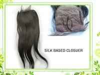 Brazilian Hair Natural Color Straight Virgin brazilian straight silk base closure Remy Hair 5*5inchTop Closure Straight Hair Natural Color 10-20inch