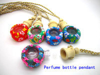 Wholesale ml New Arrival Fimo oil bottle pendant Beautiful Fimo oil bottles hanging car Clay Craft Factory Direct