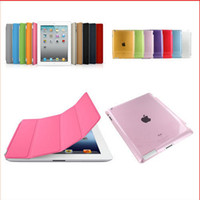 Wholesale New PU Leather Magnetic Front Smart Cover Skin Hard Back Case Shell For iPad iPad iPad