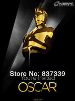 Wholesale 1 Oscar gold plated metal furnishing articles prototype replica trophy