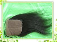 Brazilian Hair Natural Color Natural Wave Brazilian Virgin Human Hair Cheap 3.5*4 inch Natural Color light yaki Silk Base Closure Hidden Knots