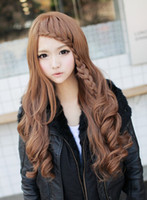 Wholesale Oblique bangs wig long curly hair wig fluffy wig braids super fashion models