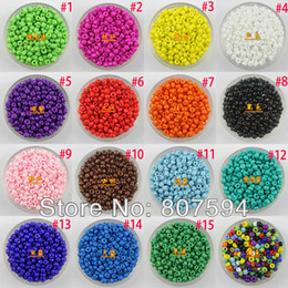 Wholesale 15000pcs NEW Latest fashion Solid color beads Make you more beautiful with the jewelry By the bead mm B27