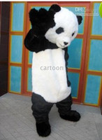 Wholesale panda adult size cartoon mascot costume factory direct
