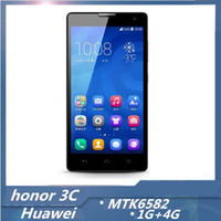 "Huawei 5.0 Android 5"" TFT Screen Huawei Honor 3C MTK6582 CPU Quad Core Dual Sim RAM 1GB + ROM 4GB Android 4.2 Smart Phone with Dual Camera 8MP Back Camera"