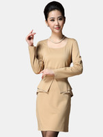 Casual Dresses Square Mini Slim Square Neck Peplum Polyester Woman's Dress dots women r62 #u10-1DHh