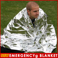 Wholesale Silvery Outdoor Waterproof Emergency Survival Foil Thermal First Aid Rescue Blanket x inch x cm