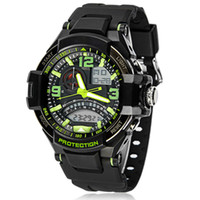 Sport analog mix - High Quality Dual Display Swimming Waterproof Wrist watches Men Sports Watches LED Digital Watch Mix Colors