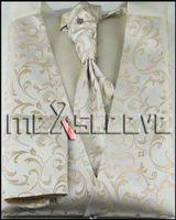 handkerchief dresses - party dress waistcoat wedding men s microfiber fabric vest solid colour waistcoat ascot tie cufflinks handkerchief