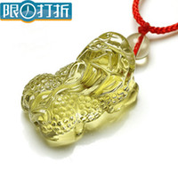 Pendant Necklaces South American Women's Citrine pendant brave genuine natural yellow crystal pendant key ring pendant Lucky brave men pendant