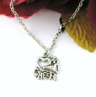 Wholesale Cheer necklace Love to Cheer necklace Cheerleading MEGAPHONE Charm Metalwork necklace Christmas Gift Friendship Gift