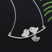 Свободная перевозка груза! Мать птицы любви птицы ожерелье подвески любовь птицы ожерелья ювелирные изделия для женщин подарок пункта