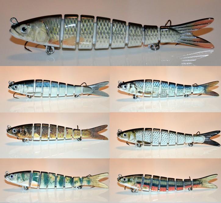 142mm/30g 8 segments herring swimbait wobbler real life like, Hard Baits