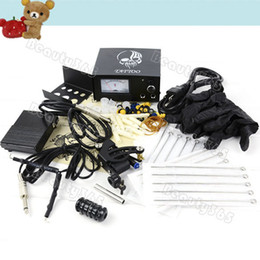 Wholesale Tattoo Machine Equipment Set Beginner Kit Gun power Supply US Power Plug