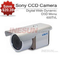 Cheap 1 3 IR SONY CCD Video Camera, 600TVL Resolution, 4-9mm Auto Iris Lense, 0.001 Minimum Illumination