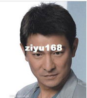 Wholesale Quinquagenarian wifing male short straight hair male wig flat head men s male wig dad send