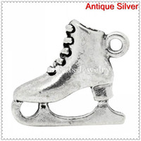 Wholesale Charm Pendants Skating Shoes Antique Silver mm x mm B31037
