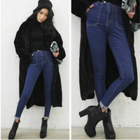 Jeans Men Bootcut stylenanda latest design women's Korean version of the big pocket jeans