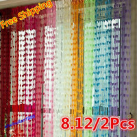 Wholesale Multicolor Heart Panel Line String Curtain Tassel Drape For Wall Vestibule Door Window