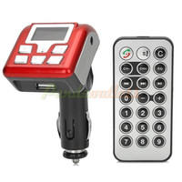 Wholesale 1 quot LCD GHz Bluetooth v2 Car FM Transmitter MP3 Player w SD Hands Free Speakerphone Red