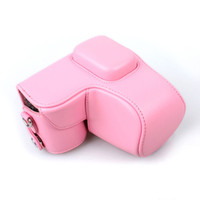 Wholesale PU Leather Camera Case Bag Shell Cover Pink Coffee White For Samsung NX1000 NX2000