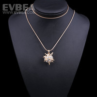 Pendant Necklaces Celtic Women's fashion jewelry new desigher full crystal blingbling long chain charm statement necklace women jewelry neckalce body jewley EVBEA