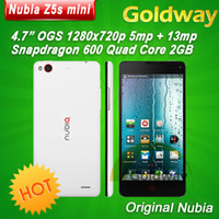 4.7 Android 2G Original ZTE Nubia Z5S Mini Quad Core phone 5mp 13mp Camera 4.7'' OGS 1280x720 Snapdragon 600 1.7GHz 2GB RAM 16GB ROM GPS OTG