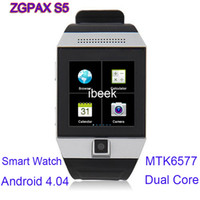 Cheap No Brand ZGPAX S5 Android 4.04 Best <1.8 Android Smart Watch MTK6577