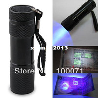 other LED Flashlights 2014 New Blacklight Invisible Ink Marker 9LED UV Ultra Violet Flashlight Torch Light 3AAA #47621