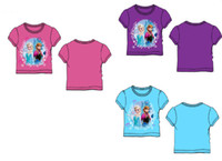Wholesale In Stock Frozen T Shirt New Hottest Baby Girls Y Y Cotton Cartoon Princess Elsa Anna Short Sleeve Tee Top