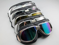 Wholesale 5pcs Goggles Sunglasses Aviator Pilot Cruiser Motorcycle Scooter ATV Goggle Eyewear T10