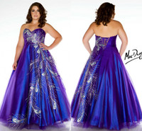 Reference Images Sweetheart Tulle Peacock applique Royal Blue & purple Plus Size Prom Dresses 2014 Sweetheart Floor Length Long 22W 24W 26W 28W evening dresses MC81765