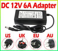 Wholesale Hot Sale LED Power Supply Charger Transformer Adapter V A V V to V For RGB LED Strip EU US AU UK Cord Plug Socket