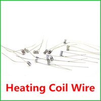Wholesale 200 ohm Resistance Resistor Heating Coil Wire for E Cigarette Atomizer DIY Ready For Soldering TT1915 heat coil wire for e cigarette