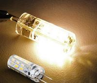 Date G4 2W 24LEDs SMD 3014 Ampoules LED Chandelier Crystallights DC 12V non polaire blanc chaud blanc froid a conduit la lumière de maïs 500PCS DHL gratuit