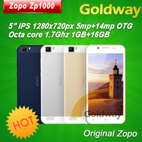 "5.0 Android 1G Original ZOPO ZP1000 Mtk6592 Octa Core Cellular phone 5"" IPS Thin 5mp + 14mp Camera 1.7GHZ CPU android 4.2 Dual sim OTG"