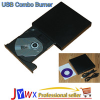 Wholesale Black USB Slim External DVD ROM CD RW Combo Drive Writer burner external dvd player for your pc and laptop