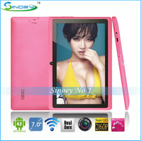 Wholesale PROMOTION Q88 A23 inch dual core tablet pc Android Alwinner A23 M GB GHz dual camera bluetooth wifi p facebookTABLET PC