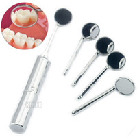 Whitening Pen Teeth Whitening Aluminium New Arrival Aluminium Anti Fog LED Dental Mirror +4 Reusable Mirror Tips head Mouth Mirror Oral Dental Care Free shipping !!!