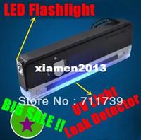 Headlamps LED LED Flashlight QUALITY GOODS Handheld UV Leak Detector For uv light bank note test currency + White LED flashlight torch