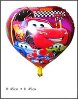 Wholesale Cartoon Helium Balloon Cars inch Aluminum Balloon Novelty Balloon Wedding Decoration Party Supplies Children s Classic Toys Self sealing