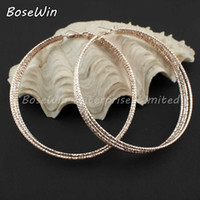 Wholesale Fashion Women Jewelry mm Big Style Multilayer Alloy Large Hoop Earrings Gold and Silver Color FE041