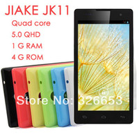 "5.0 Android 1G Original JIAKE JK11 11android4.2 MTK6582 quad core PHONES 4G ROM 5.0""IPS smartphone WCDMA 3g phone ruassian spanish multi-langs"