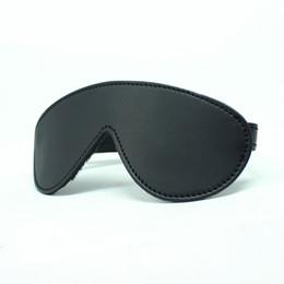 Wholesale Black Fleece Lined Blindfold Bondage gear Sex toy For couple