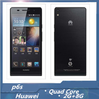 Wholesale Original Huawei Ascend P6 quot Incell Screen Android hasi K3VE Quad Core GHz GB RAM GPS GB Camera G Unlocked Smart Mobile Phone