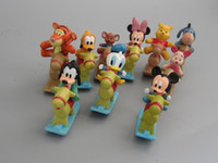 Roles wooden horse - MICKEY Minnie figures set Minnie Mouse Donald Duck with the wooden horse Cartoon Childre s toy