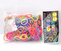 Cheap maxi freeshipping m117 colorful rubber band rainbow loom bands Bracelet knitting accessories 600bands with 24 clip