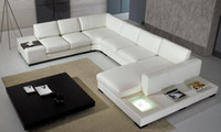 Wholesale Modern sofa with illuminated stornge leather