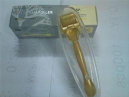 Wholesale FDA MT Micro Needle Derma Roller MT Micro Needle Derma Roller For Skin Rejuvenation Microneedle Therapy Gold